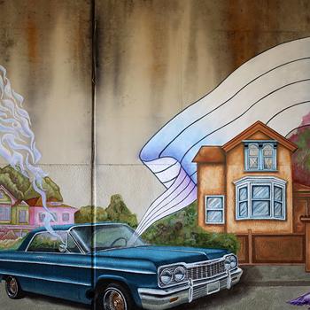 SUPERHEROES MURAL #3 - OAKLAND, CA